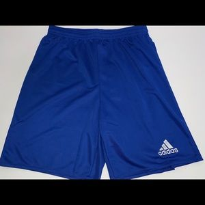 "NWT Adidas Boys 8"" Blue Athletic Soccer Shorts"